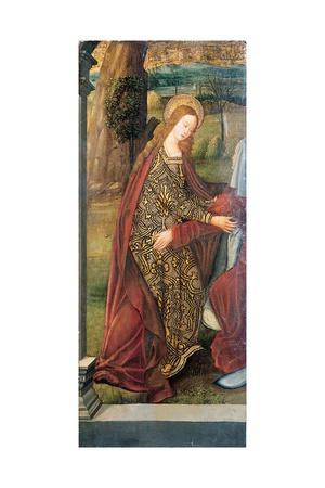 The Visitation - a Wing of an Altarpiece, a Fragment (Oil on Gold Ground Panel)