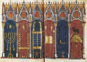 Illustration of the Temple of Solomon, 'Scholastic History' , 12th C by Pedro Comestor