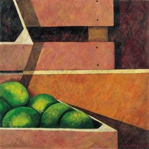 Crates with Green Oranges, 1999 by Pedro Diego Alvarado