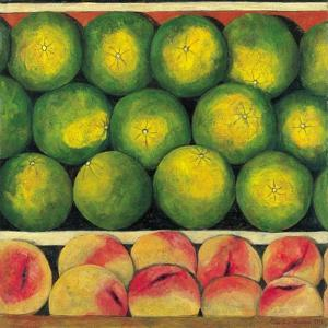 Green Oranges and Peaches, 1999 by Pedro Diego Alvarado