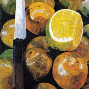 Oranges and Knife, 2003 by Pedro Diego Alvarado