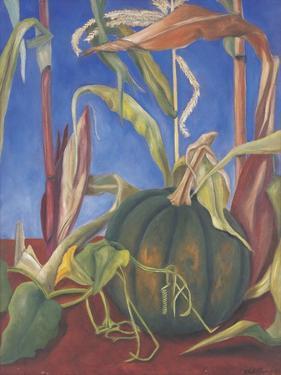 Pumpkin with Flowers, 1989 by Pedro Diego Alvarado