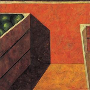 Two Fruit Crates, 1999 by Pedro Diego Alvarado