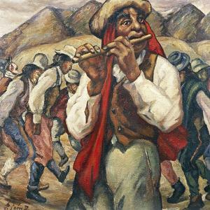 Indian Celebration, 1894 by Pedro Leon