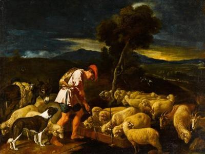 Jacob Watering Laban's Sheep before Peeled Branches, c.1612-1622 by Pedro Orrente