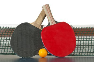 Table Tennis Rackets and Ball by Pedromonteiro