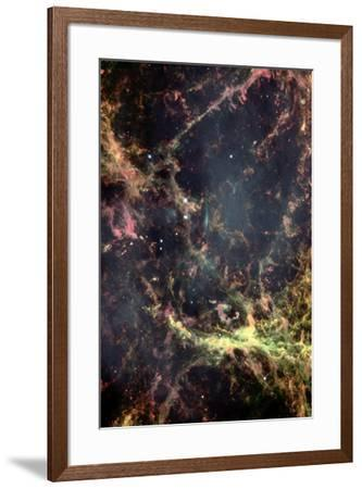 Peering into the Heart of the Crab Nebula Space Art--Framed Photo
