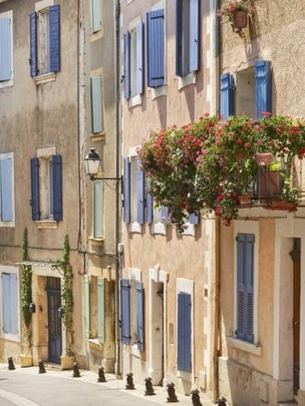 Geraniums on Balcony in St.-Saturnin-les-Apt