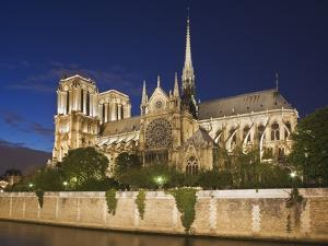 Notre Dame Cathedral at twilight by Peet Simard
