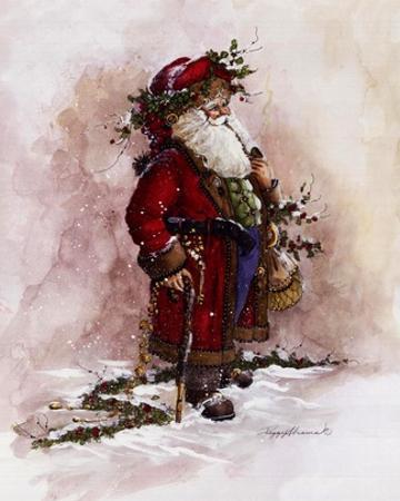 Olde World Santa by Peggy Abrams