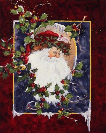 Santa's Portrait by Peggy Abrams