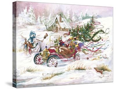 Santas 1909 Ford by Peggy Abrams