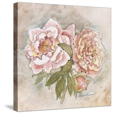 Victorian Panel-Peonies by Peggy Abrams
