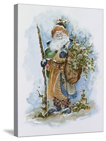 Woodland Holly Gatherer by Peggy Abrams