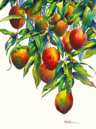 Backyard Mangoes - Hawaiian Mangos and Geckos (Kapili) by Peggy Chun
