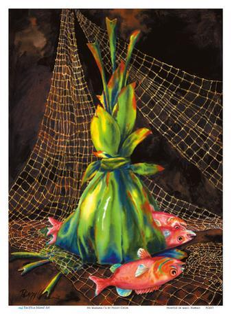 He Makana I'a (A Gift of Fish) - Hawaiian Ti Leaf Offering by Peggy Chun