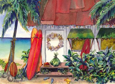Holiday at the Surf Shack - Hawaiian Beach House (Hale) at Christmas by Peggy Chun