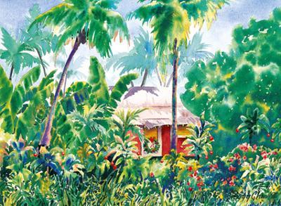 Holiday Hale (House) - Hawaiian Jungle Shack at Christmas Time by Peggy Chun
