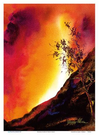 Kilauea Glow - Hawaiian Volcano - Pele, Goddess of Fire by Peggy Chun
