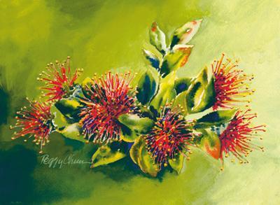 Koke'e Ohia - Native Hawaiian Ohia Lehua Tree Blossom by Peggy Chun