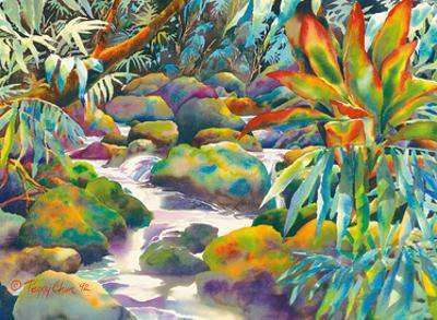 Nu?uanu Stream - Honolulu, Oahu, Hawaii by Peggy Chun