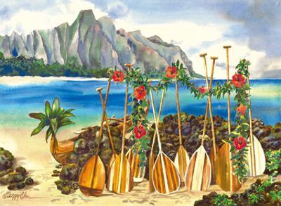 Spirit of the Islands - Hawaiian Canoe and Paddles by Peggy Chun