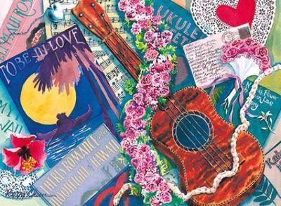 Sweet Lokelani - Hawaiian Ukulele with Lokelani (Pink Damask Rose) by Peggy Chun