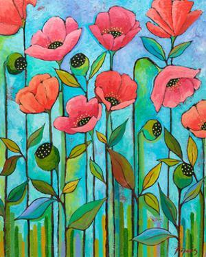 Coral Poppies by Peggy Davis