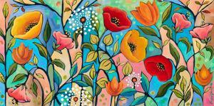 Garden Party V by Peggy Davis