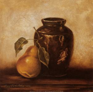 Crock with Pears by Peggy Thatch Sibley
