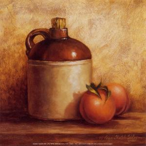 Jug with Peaches by Peggy Thatch Sibley