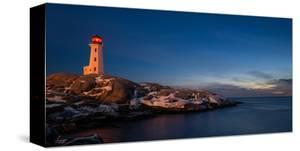 Peggys Cove's Lighthouse Dusk