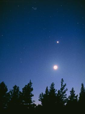 Earth View of the Planet Venus with the Moon by Pekka Parviainen