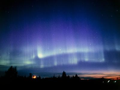 View of a Colourful Aurora Borealis Display