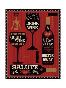 Wine Words II by Pela Design