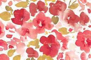 Floral Flow I Red Gold by Pela Studio