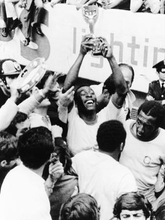 Pele in Triumph in Mexico City, June 21, 1970