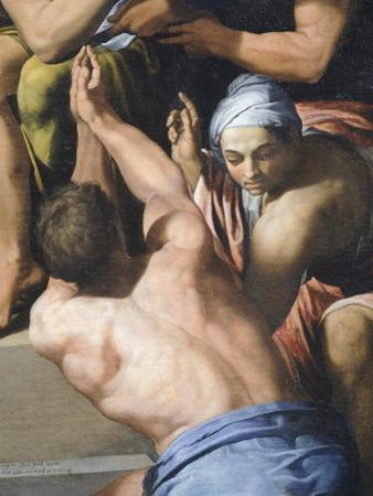 Man with His Upper Torso Nude, Detail from Adoration of the Child, 1569