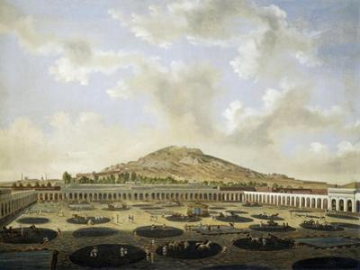 The Courtyard of Mining Company in Zacatecas in 1840, Mexico