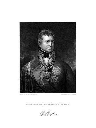 Sir Thomas Picton, British Soldier, 19th Century