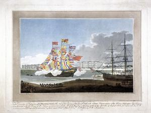 West India Docks, Poplar, London, 1802 by Peltro William Tomkins