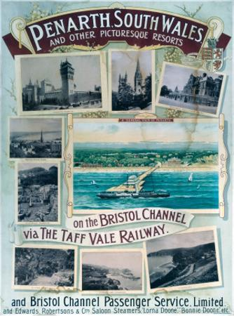 Penarth South Wales, on the Bristol Channel Via the Taff Vale Railway