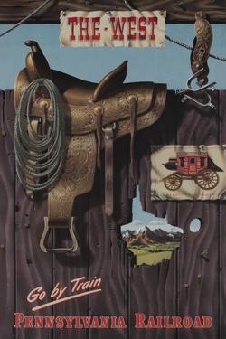 Pennsylvania Railroad Travel Poster, the West Go