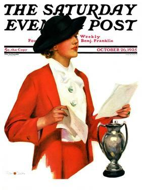 """""""And the Winner Is,"""" Saturday Evening Post Cover, October 25, 1936 by Penrhyn Stanlaws"""