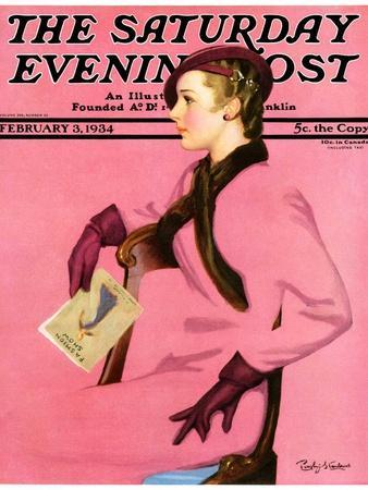 """""""At the Fashion Show,"""" Saturday Evening Post Cover, February 3, 1934"""
