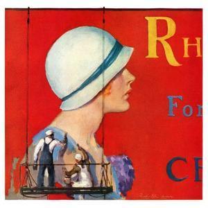 """""""Billboard Painters,""""July 9, 1932 by Penrhyn Stanlaws"""