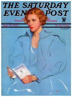 """""""College Requirements,"""" Saturday Evening Post Cover, September 23, 1933 by Penrhyn Stanlaws"""