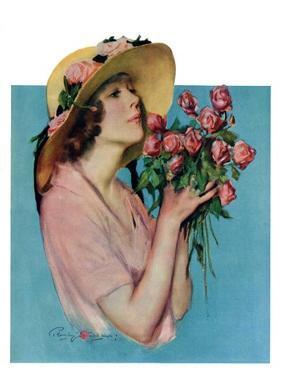 """Pink Rose Bouquet,""June 18, 1927 by Penrhyn Stanlaws"