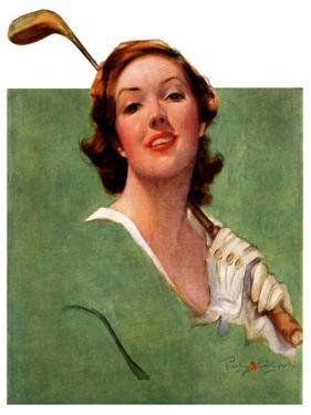 """Portrait of Lady Golfer,""April 22, 1933 by Penrhyn Stanlaws"
