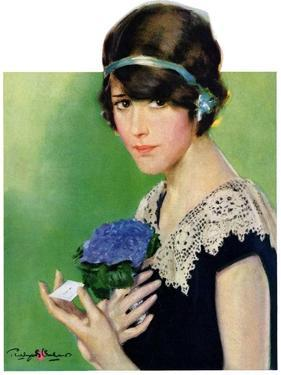 """""""Purple Posey,""""May 22, 1926 by Penrhyn Stanlaws"""